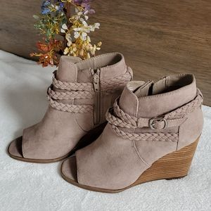 Madden Girl Peep Toe Boots